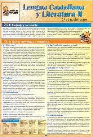 LENGUA CASTELLANA Y LITERATURA -II- 2 BACH. LA GUIA DE MICHA