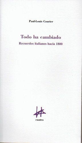 TODO HA CAMBIADO:RECUERDOS ITALIANOS HACIA 1800