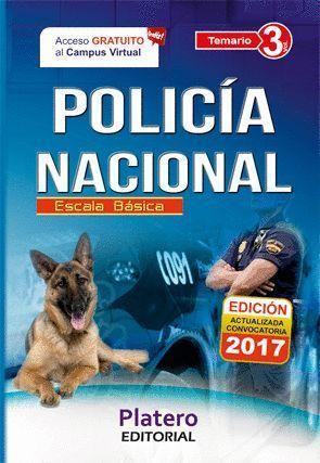 POLICIA NACIONAL TEMARIO VOL.3 ESCALA BASICA