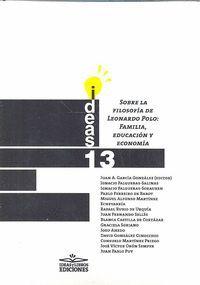 SOBRE LA FILOSOFÍA DE LEONARDO POLO: FAMILIA, EDUCACIÓN Y ECONOMÍA