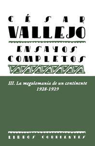 ENSAYOS COMPLETOS III. LA MEGALOMANÍA DE UN CONTIN