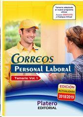 PERSONAL LABORAL DE CORREOS. TEMARIO. VOLUMEN 1