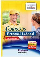 PERSONAL LABORAL DE CORREOS. TEMARIO. VOLUMEN 2