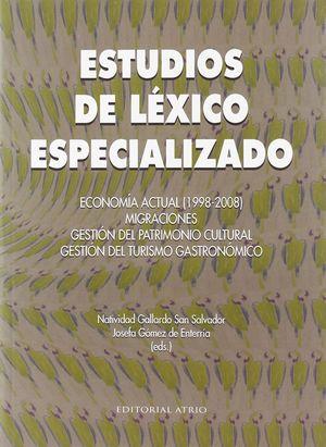 ESTUDIOS DE LEXICO ESPECIALIZADO