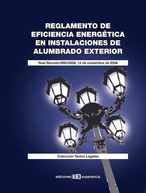 REGLAMENTO EFICIENCIA ENERGETICA INSTALACIONES DE ALUMBRADO EXTER