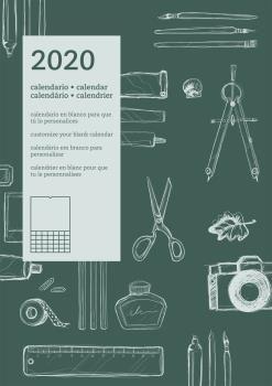 CALENDARIO PARED INTERNACIONAL 2020 (VERDE)