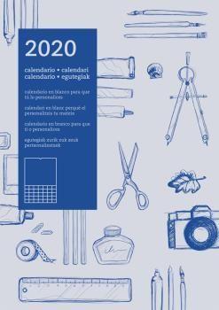 CALENDARIO PARED AUTONOMICO 2020 (AZUL)