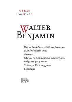 OBRAS LIBRO IV VOL. 1  WALTER BENJAMIN