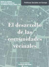 PPSSE 42 EL DESARROLLO DE LAS COMUNIDADES VECINALES
