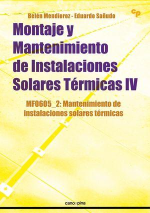 MONTAJE Y MANTENIMIENTO DE INSTALACIONES SOLARES TERMICAS IV