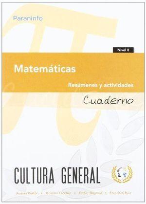 MATEMATICAS (CUADERNO NIVEL 2) RESUMENES Y ACTIVIDADES