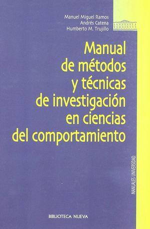 MANUAL METODOS TECNICAS INVESTIGACION CIENCIAS DEL COMPORTAMIENTO