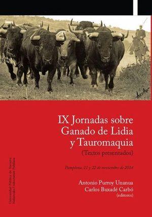IX JORNADAS SOBRE GANADO DE LIDIA Y TAUROMAQUIA, PAMPLONA, 21 Y 2
