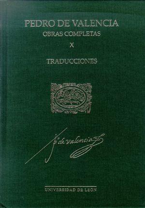 OBRAS COMPLETAS X. PEDRO DE VALENCIA