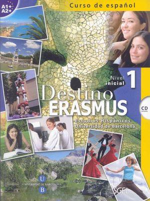 DESTINO ERASMUS 1 +CD (A1-A2) NIVEL INICIAL