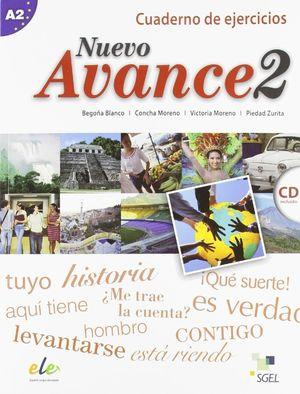 NUEVO AVANCE 2 CUADERNO DE EJERCICIOS A2