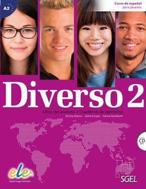 DIVERSO 2 +CD A2 LIBRO DEL ALUMNO - CUADERNO DE EJERCICIOS