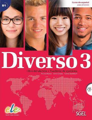 DIVERSO 3 +CD B1 LIBRO DEL ALUMNO + CUADERNO DE EJERCICIOS