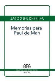 MEMORIAS PARA PAUL DE MAN