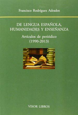 DE LENGUA ESPAÑOLA, HUMANIDADES Y ENSEÑANZA