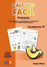 CALCULO FACIL 17 PRIMARIA 3ª EDICION