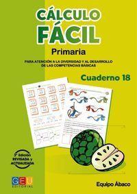 CALCULO FACIL 18 PRIMARIA 3ª EDICION