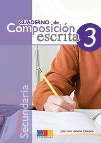 CUADERNO DE COMPOSICION ESCRITA 3 SECUNDARIA