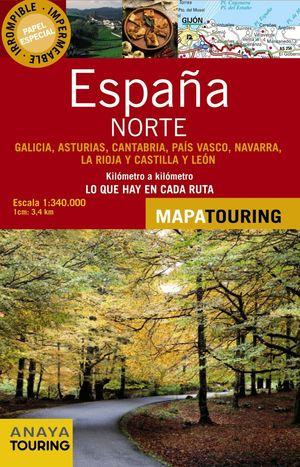 MAPA DE CARRETERAS 1:340.000 NORTE DE ESPAÑA (DESPLEGABLE)