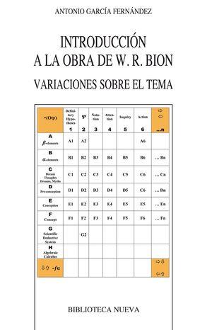 DICCIONARIO DE LA OBRA DE W. R. BION