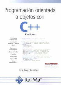 PROGRAMACION ORIENTADA A  OBJETOS CON C++ (5ª ED.2018)