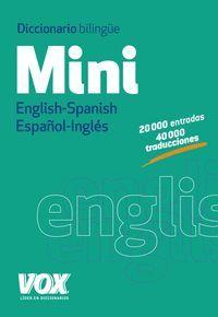 DICCIONARIO MINI ENGLISH - SPANISH / ESPAÑOL - INGLES