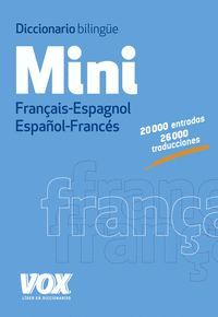 DICCIONARIO MINI FRANCAIS - ESPAGNOL / ESPAÑOL - FRANCES