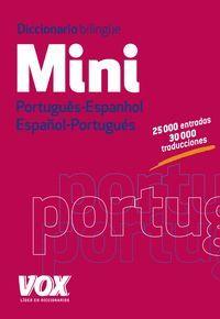 DICCIONARIO MINI PORTUGUES- ESPANHOL / ESPAÑOL-PORTUGUES