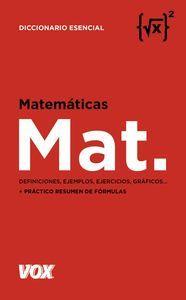 MATEMÁTICAS. DICCIONARIO ESENCIAL