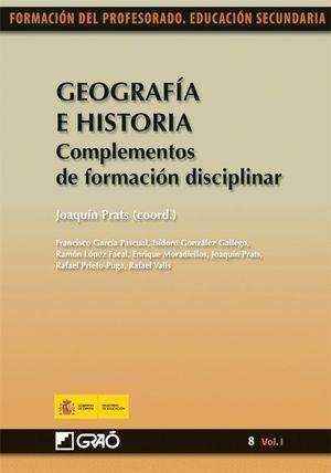 GEOGRAFÍA E HISTORIA. COMPLEMENTOS DE FORMACIÓN DISCIPLINAR