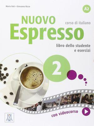 NUOVO ESPRESSO 2 A2 LIBRO +DVD CORSO DI ITALIANO