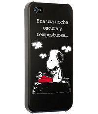 CARCASA IPHONE 5 - 5S SNOOPY ERA UNA NOCHE OSCURA Y TEMPESTUOSA..