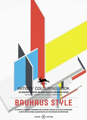 BAUHAUS STYLE ARTIST COLOURING BOOK