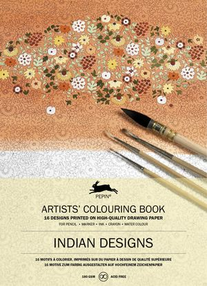 ARTISTS COLOURING BOOK INDIAN DESIGNS