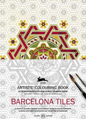 ARTISTS COLOURING BOOK BARCELONA TILES