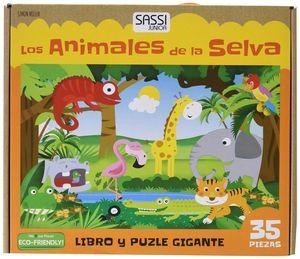 LOS ANIMALES DE LA SELVA (MALETIN LIBRO PUZZLE 35 PIEZAS)