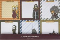 MEDIEVAL. PACK NOTAS SEIS PERSONAJES