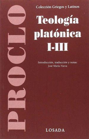 TEOLOGIA PLATONICA I-III