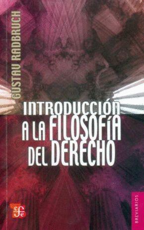 INTRODUCCIÓN A LA FILOSOFIA DEL DERECHO