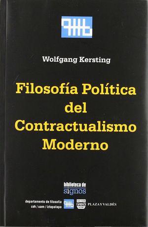 FILOSOFIA POLITICA DEL CONTRACTUALISMO MODERNO