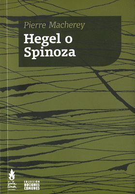 HEGEL O SPINOZA